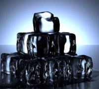 hielo con sal